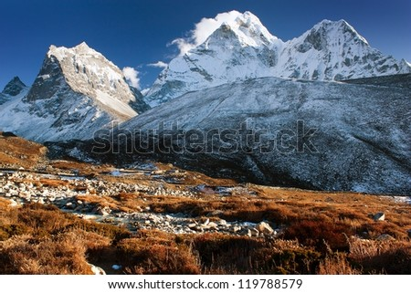 evening view of Ama Dablam - Nepal