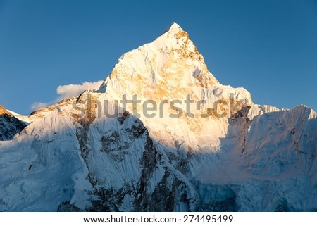 evening view of nuptse from kala patthar