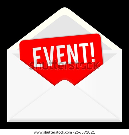 event icon isolated on white background. envelop, letter email, information and media