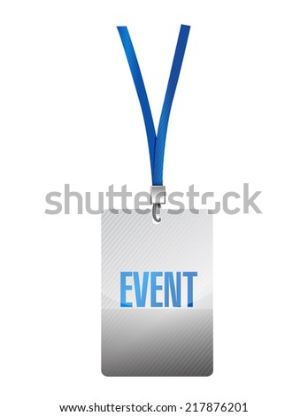 event pass illustration design over a white background - stock photo