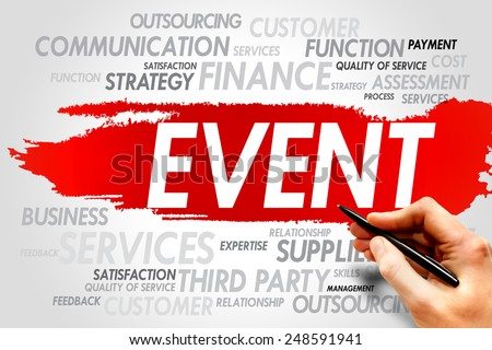 EVENT word cloud, business concept - stock photo