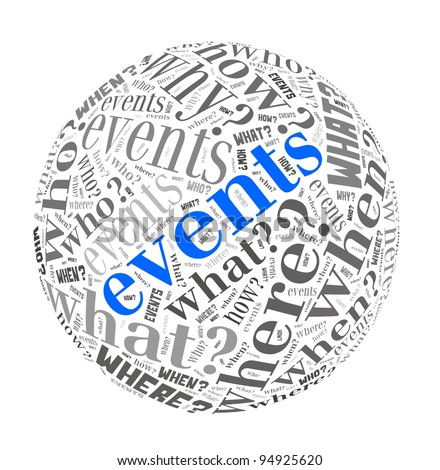 Events Concept in Word Collage - stock photo