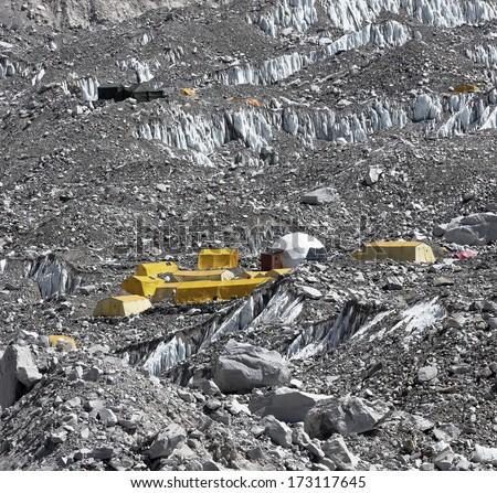 Everest Base Camp (EBC) - Nepal - stock photo