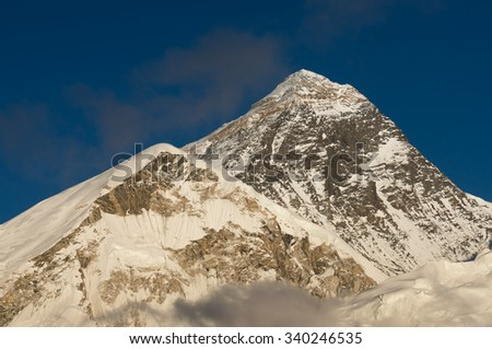 Everest mountain from Kalapatthar view point, Everest region, Nepal