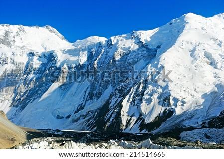 Everest Mountain Peak - stock photo