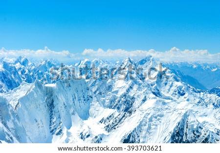 Everest Region of the Himalayas, Nepal. - stock photo