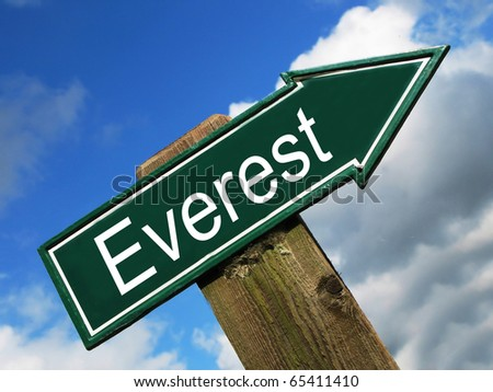 EVEREST road sign
