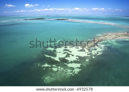 Everglades National Park from above.