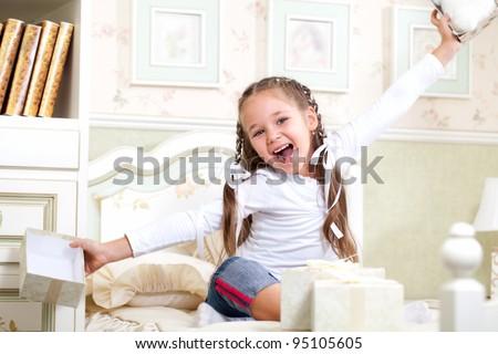 every birthday celebration of childhood - stock photo