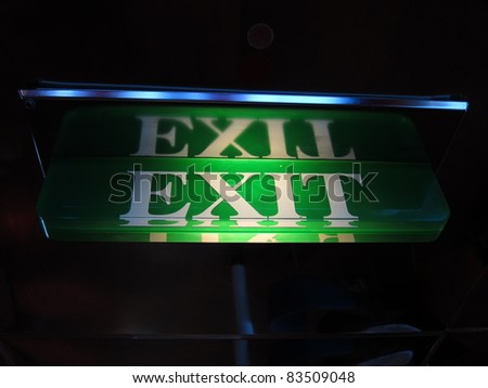 Every exit is an entry somewhere - stock photo