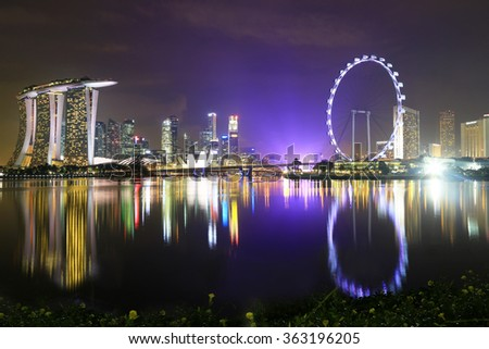 Everyday there is an nice llight-show in Singapore