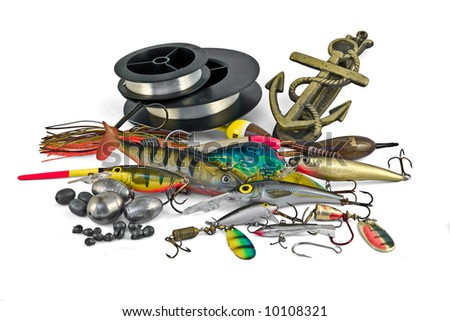 Everything for fishing - stock photo