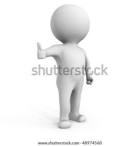 Everything is going fine - a 3d image - stock photo