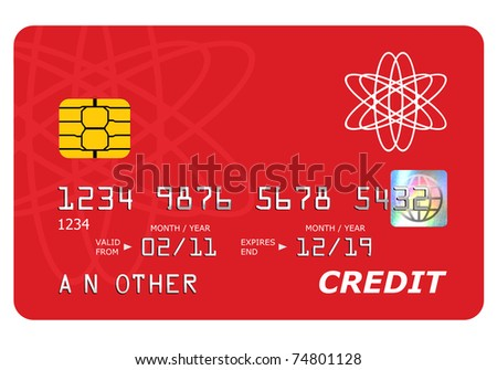 Everything on this mock credit card including the hologram has been designed by myself, the number and name is generic. - stock photo