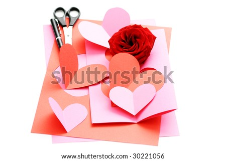 everything you need to make some Valentine card
