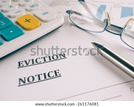 eviction notice - stock photo