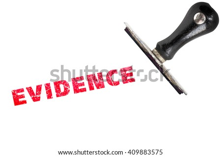 EVIDENCE stamp text with stamper - stock photo