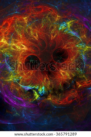 Evil abstract illustration - stock photo