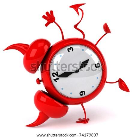 Evil alarm clock - stock photo