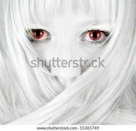 Evil girl - stock photo