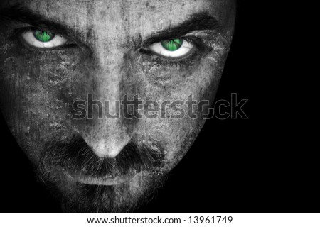 Evil Scary Face - stock photo