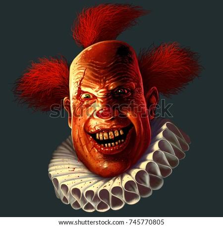 Scary Clown Jakcet Blood Drops On Stock Illustration ...