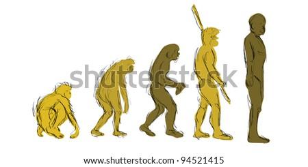 Evolution Hand-Draw - stock photo