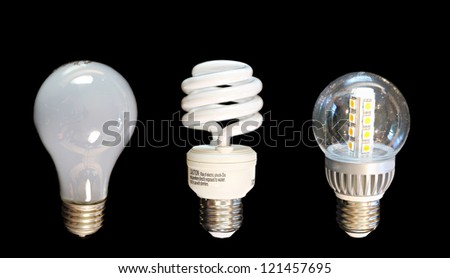 Evolution of light leading to green energy - stock photo