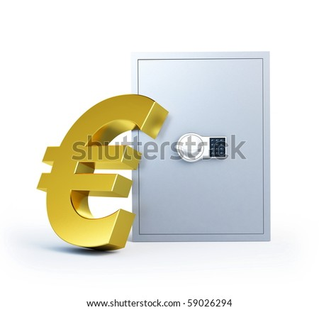 evro symbol safe  isolated on a white background