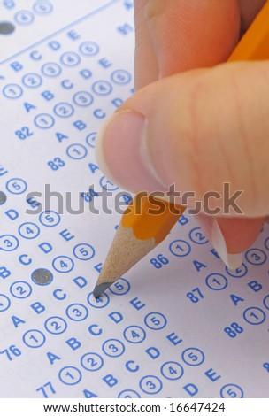 Exam - stock photo