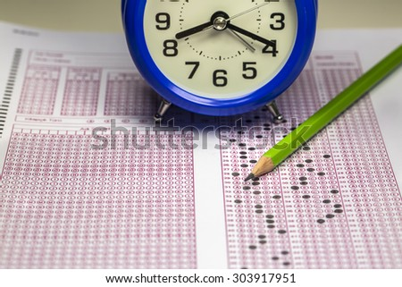 Exam - stock photo