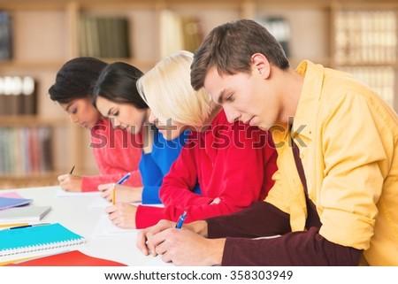 Exam. - stock photo