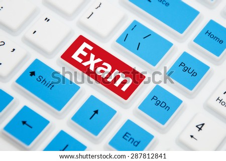 Exam Button on Computer Keyboard