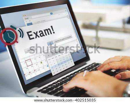 Exam Education Achievement Grade Score Concept - stock photo
