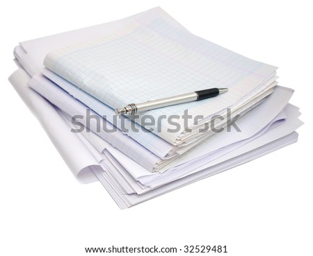 Exam papers collection - stock photo