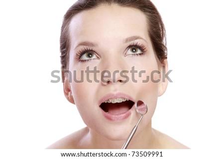 Examining teeth - stock photo