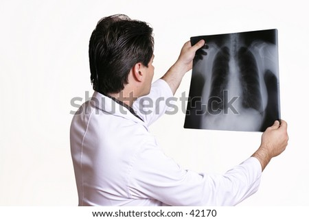 Examining X-ray - stock photo