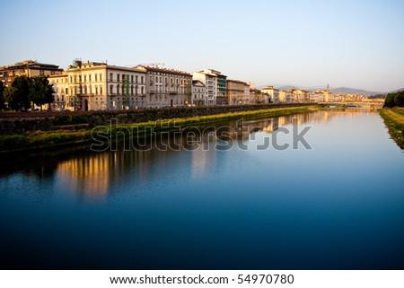 example of italian historic architecture - stock photo