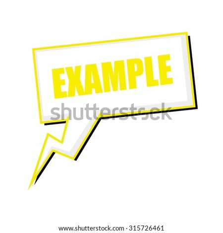 example yellow stamp text on white Speech bubbles - stock photo