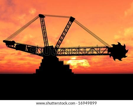 Excavator - stock photo