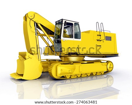 Excavator Computer generated 3D illustration