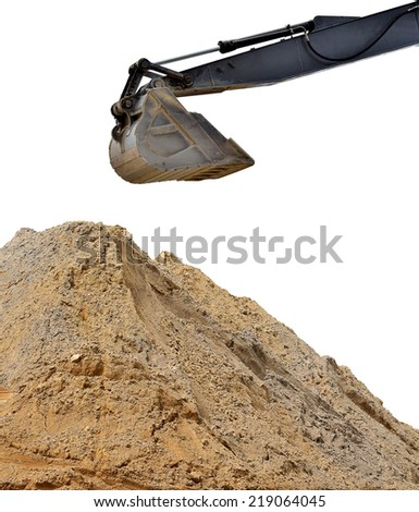 excavator loader at construction site - stock photo