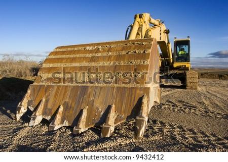 Excavator series - stock photo