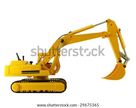 excavator toy - stock photo