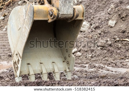 Excavators machine in construction site