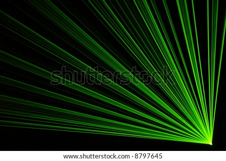 Excelent green laser party at the club. - stock photo