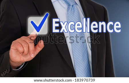 Excellence - stock photo