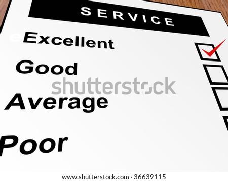 Excellent, good, average and poor qualification. Service illustration - stock photo