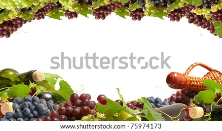 Excellent grape wine of great patience - stock photo