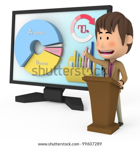 Excellent presentation - stock photo